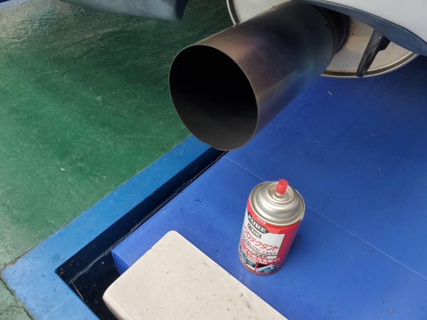 FD3S  RX-7  オートエグゼ チタン+マフラー からの 純正! からの・・・・・・・・