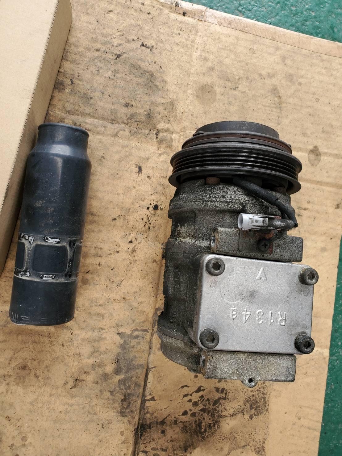 RZJ95 ランクルプラド エアコン修理 リビルト品 コンプレッサー引きずり